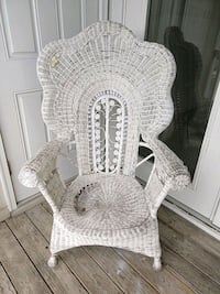 white wicker armchair  Florence, 41042