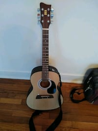 brown and black dreadnought acoustic guitar East Riverdale, 20737