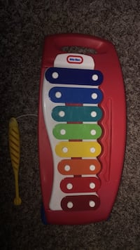 Red and white little tikes xylophone toy