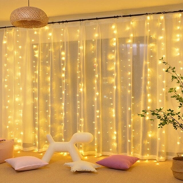 Window Curtain String Light for home party wedding decor