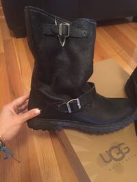 Energie black leather boots