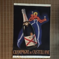 LARGE CHAMPAGNE POSTER