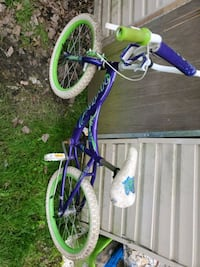 children's purple and green bicycle Lawrence Township, 08648