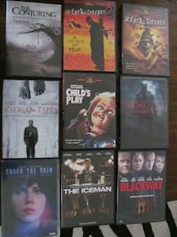 Free Horror movies. Conjuring, Childs play, Friday 13, Jeepers Creepers.