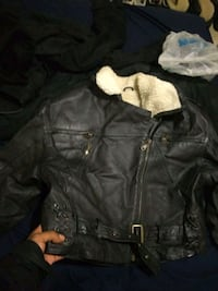 Women's NY Biker jacket with sheep fur