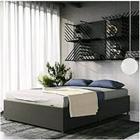 Brand New Queen Maven Upholstered Platform Bed with storage In Gray- Henderson, 89074