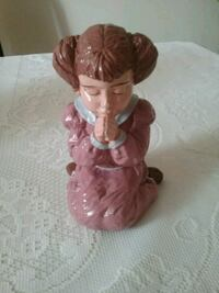Little Girl Praying Figurine Hand Painted  Toronto, M6H 3Y3