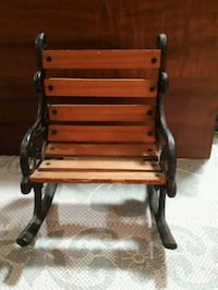 Antique wood and cast iron mini rocking chair.  Whitby, L1P 1B8