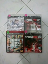 three Sony PS3 game cases Jacksonville, 32210