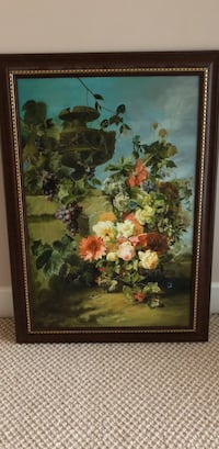 Hand painting with antique frame Vancouver, V6C 3R1