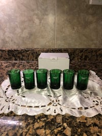 Green Shot Glasses (Set of 6) Kensington, 20895