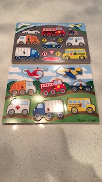 2 wood Melissa&Doug peg puzzles excellent condition Laval, H7K 1Y5