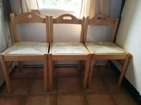 3 VERY NICE DECORATIVE MATCHING WOODEN CHAIRS WITH Montreal, H9H 1E3