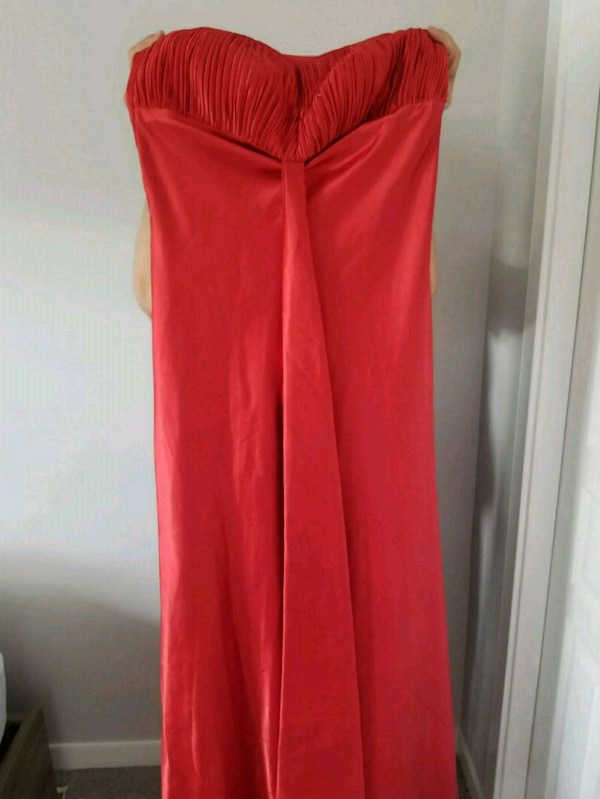 women's red spaghetti strap dress