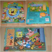 """Spongebob Squarepants First Look and Find Book (large 12"""" x 10"""" size) Surrey"""