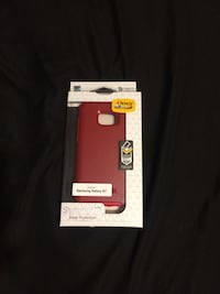 red Otter Box Samsung Galaxy S7 case with box