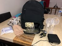 Medela breast pump with bag, car outlet, battery pack and hands free breast pump bra  Lakewood, 80215