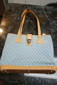 Dooney and bourke lite blue purse.and make up bag