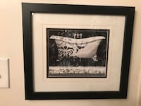 Pretty Matted Black & White Bathtub in all wooden frame Gainesville, 20155