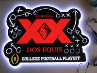 NEW XX Dos Equis College Football Playoff Led Opti Neo Beer Bar Man Cave Light Chino Hills