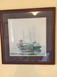 Large framed ship painting  Zionsville, 46077