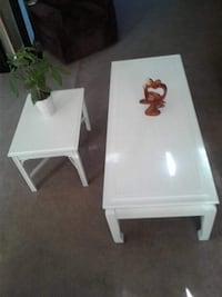Chalk painted coffee and end table
