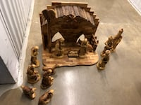 Large olive wood musical nativity set from the Holy Land Arlington, 22209