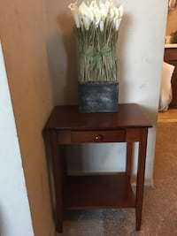 Brown wooden side table  Edmonton, T6K 0J8