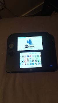Black n blue nintendo 2ds modded for full free shop access, all games for free Vancouver, V5Y 0H6