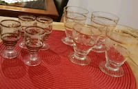 clear glass pitcher and cups 543 km