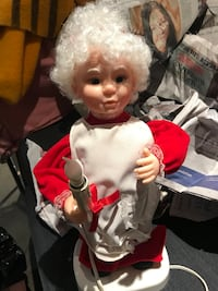 Vintage 80's Mrs Claus Moving Figure with Light Toronto, M6P 3H8
