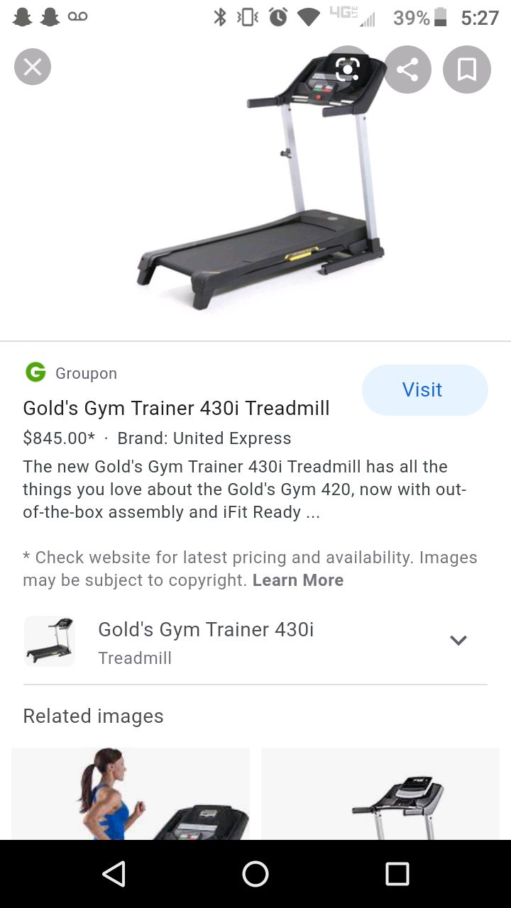 Photo Gold gym treadmill works great don't use it no more