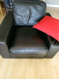 black leather club chair  Toronto, M6P 4J4