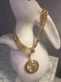 18k GPL Scorpion Pendant With Cuban Chain Necklace