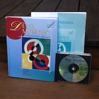 """Learn french with """"Deux Mondes - A Communicative Approach"""" - Books & CD"""
