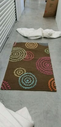 red, white, and brown floral area rug Baton Rouge, 70810