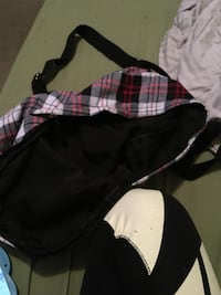 gray, red, and white plaid backpack Des Moines, 50315