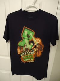 Minecraft Attack of the Creeper Black T-Shirt Size
