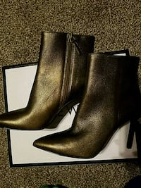 Sexy Nine West Copper Leather Stiletto Booties Baltimore, 21201