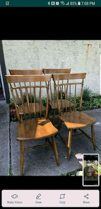 two brown wooden windsor chairs San Antonio, 78213