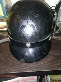 black and gray half-face helmet Phoenix, 85035