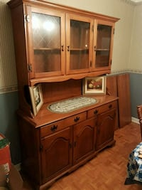 Brown wooden cabinet with hutch Montreal, H9C 1H4