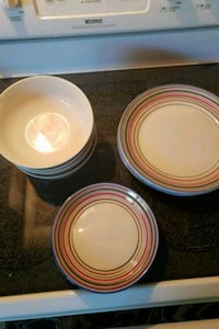 white and orange ceramic plates Woodbridge, 22192