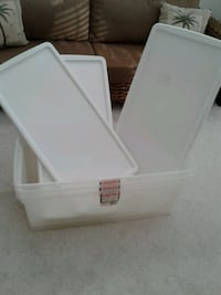 Plastic Storage Containers set of 3