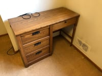 brown wooden single pedestal desk Kensington, 20895