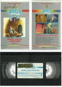 vhs Hanna-Barbera Daniel and the Lion's Den Tape Tested  Tape Tested and works well  Clamshell version