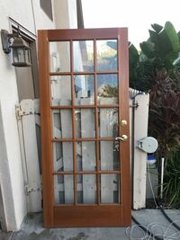 Stained wooden framed glass doors Melbourne, 32934