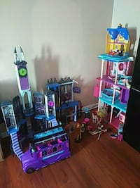 multicolored Monster High dollhouse New Orleans, 70127