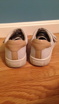 Calvin Klein natural leather sneakers. Size 7. Good condition just needs to be cleaned