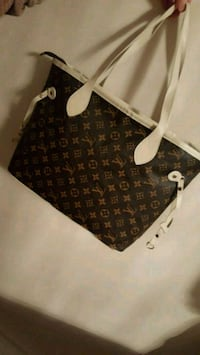 brown Louis Vuitton Monogram leather tote bag 785 km